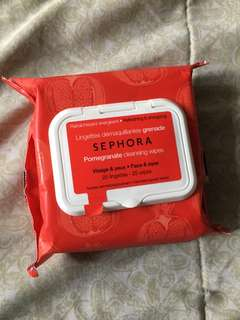 Sephora pomegranate cleansing wipes