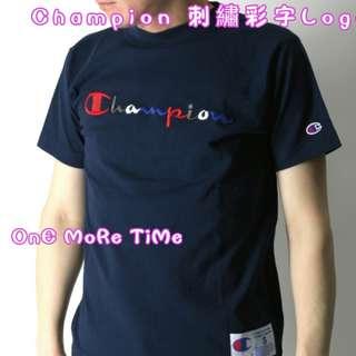 Champion 彩字刺繡Logo