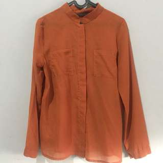 Orange brown blouse
