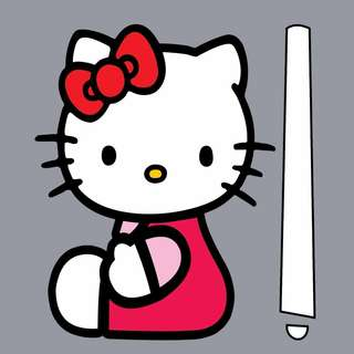 Car Wiper Sticker - Hello Kitty