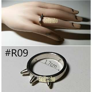 #R9 Rings Studs Silver Colour Sellzabo 1.7cm Ladies Accessories