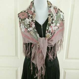 Square Floral Scarf