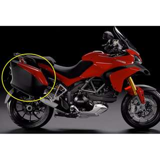 Ducati Multistrada Sport/Touring 2012 side panniers (58L): 1 pair (Red)- BRAND NEW