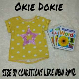 Girl's T Shirt Okie Dokie