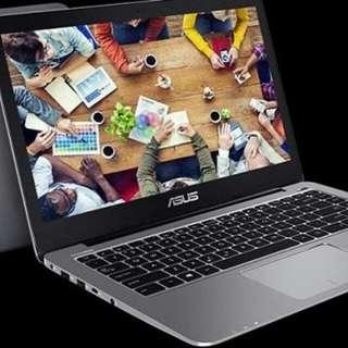 Laptop Core i7 Asus A442UR Ram 4Gb HDD 1TB bisa di Kredit proses 3 menit langsung bawa pulang barang
