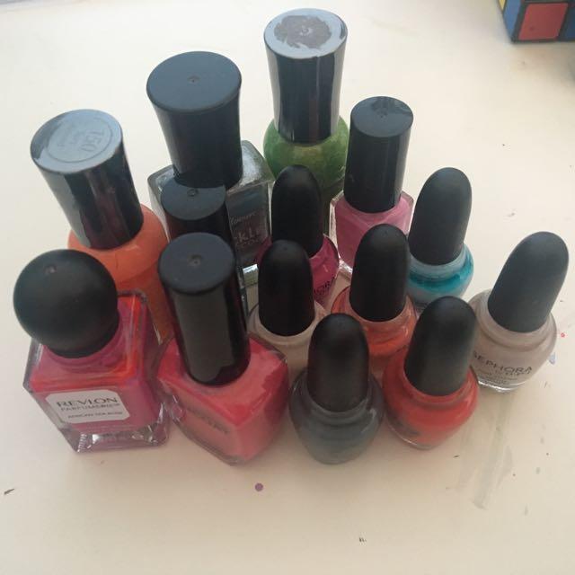 14 nail polishes