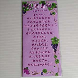 BNIP Flexible Magnet Bible Verse in Chinese