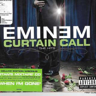 MY PRELOVED CD - EMINEM CURTAIN CALL THE HITS /FREE DELIVERY (F3M)