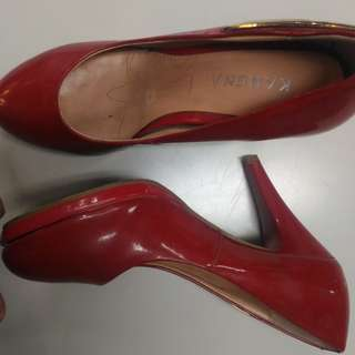 stiletto  RED shoes