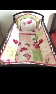 Baby girl bed cot bumper