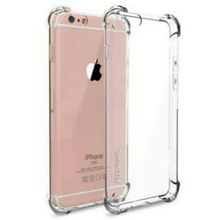 Iphone 7+ Plus Casing Anti Crack Bening Jaket Silikon Hp