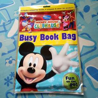 (BNEW) Mickey Mouse Busy Book Bag