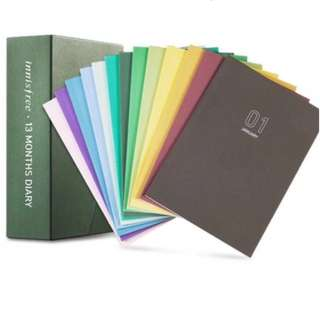 [FREE SHIPPING] REDUCED Innisfree 2018 Monthly Planner