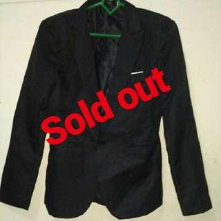#SoldouT stelan jas dan celana hitam pria
