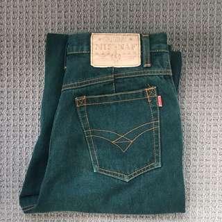 Vintage dark green jeans