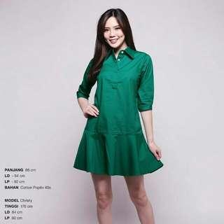 Emerald Green Ruffle Dress