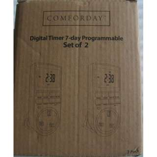 Digital Programmable Timer Plug for 7 days a week cycle