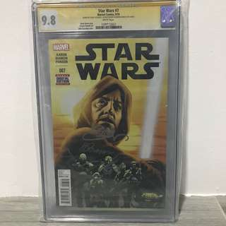 Star Wars #7 CGC 9.8 Triple Signed