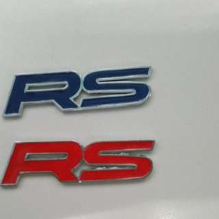 Twin RS Metal Emblem Logo