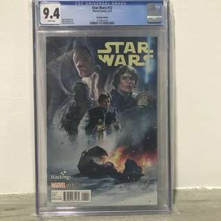 Star Wars #13 Hastings Variant CGC 9.4