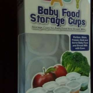 Baby Food and Breast Milk Storage Cups