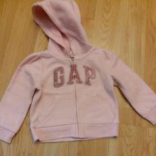 95新 Gap 女童粉紅色外套 90cm 18-24m