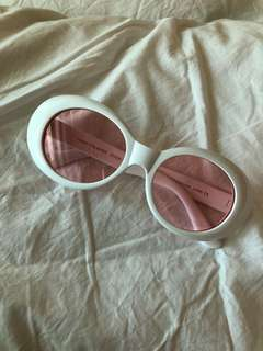 Pink tinted clout goggles