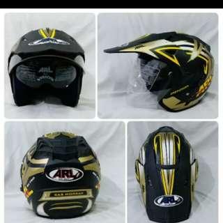 Helmet ARL semi cross doble visor morgan black matte
