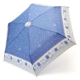 Japan Sanrio Little Twin Stars Folding Umbrella (starry sky)