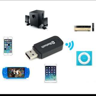 BNIB USB Wireless Bluetooth 3.5mm Music Audio For Speakers, Amplifier And Car Handsfree Receiver Adapter