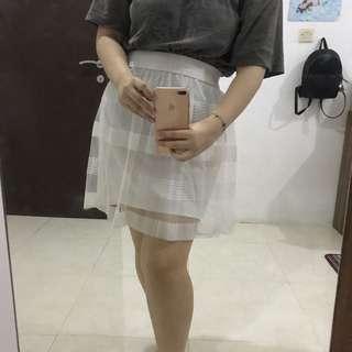 White sheer skirt