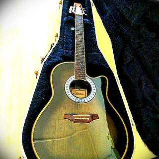 Ovation Style Electric Acoustic Guitar