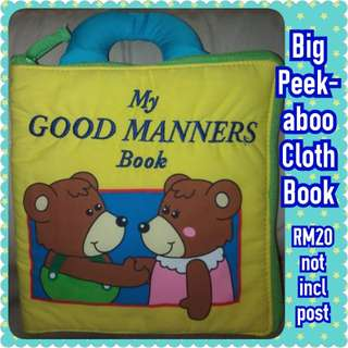 Learning Manners Big-sized Cloth Book