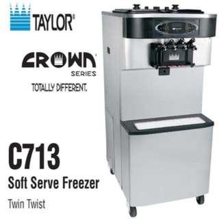 🚚 美國泰勒原裝進口TAYLOR之C713落地型雙孔3色霜淇淋機 。買3台再送1台.