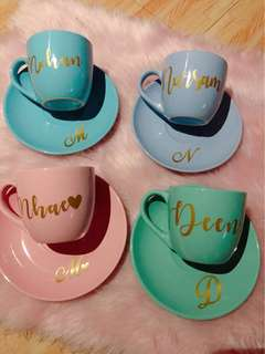 PERSONALIZED CUP AND SAUCER ✨