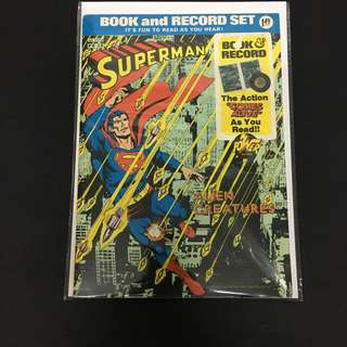 Superman PR 28 Power Records DC Comics Book Justice League Movie