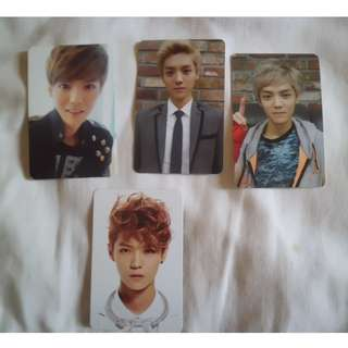 Luhan official photocards.