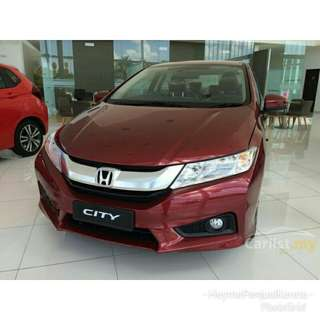 Honda City Maroon