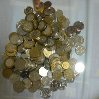 Sg 70 dollar 💰 coins.  currency money coin sg 1 dollar, 50 cents, 20 cents, 10 cents and 5 cents.