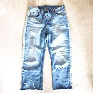 Zara 90's distressed jeans