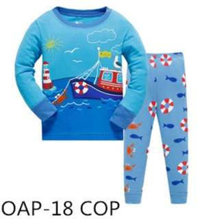 Sailing in the sea sleep wear set