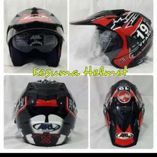 Helmet ARL semi cross double visor 19