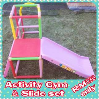 Activity Gym and Slide set FREE POSTAGE
