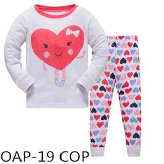Hearts sleep wear set