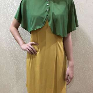 Justine yellow and green dress