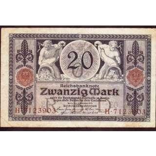 1915年德國20 mark