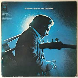 Johnny Cash ‎– Johnny Cash At San Quentin (1970s Netherlands Pressing - Vinyl is Mint)
