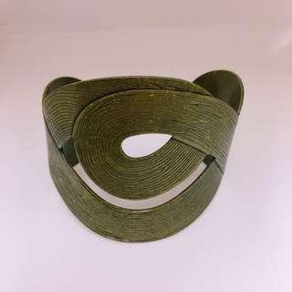 韓國銅色型格手鐲 Korean copper special bangle
