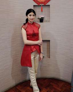 Party outfit 1set red n gold