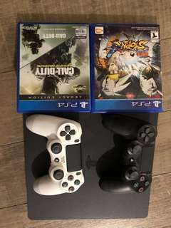 Ps4+ 2 games+2controller
